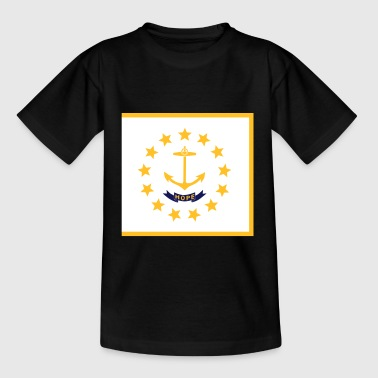 Flag Rhode Island - Kinder T-Shirt