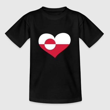 Grönland Herz; Heart Greenland - T-shirt barn