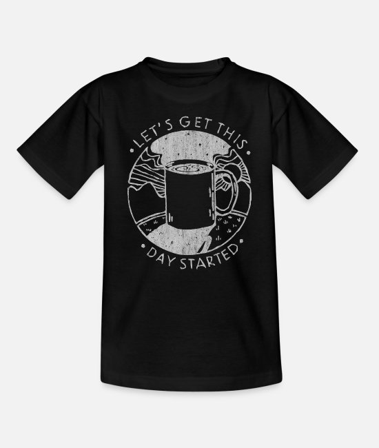 Coffee Bean T-Shirts - Coffee, cup of coffee, drink coffee, love coffee - Kids' T-Shirt black