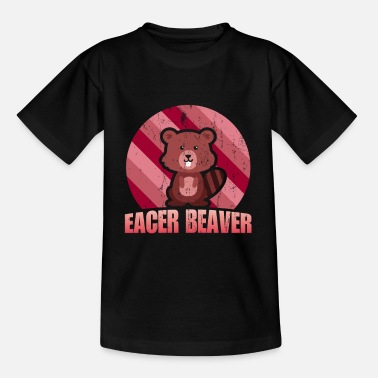 Eagerness Beaver eager zeal animal welfare - Kids' T-Shirt