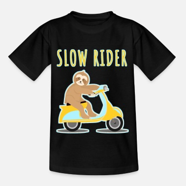 Sengångare Sloth Lazy Driving Scooter Motorcycle - T-shirt barn