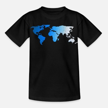 World Map - WATER - Kids' T-Shirt