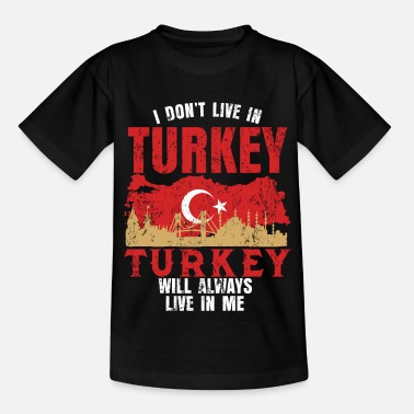 Beach Turkey Country Flag Half Moon Holiday Tour Gift - Kids' T-Shirt