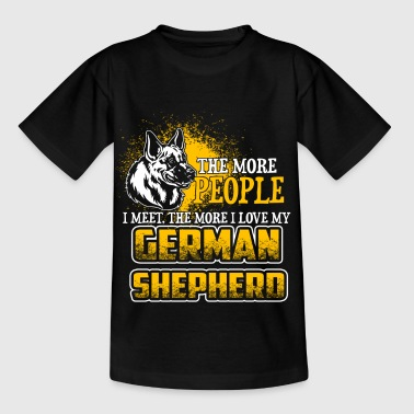 The More People I Meet - German Shepherd - EN - Kinderen T-shirt