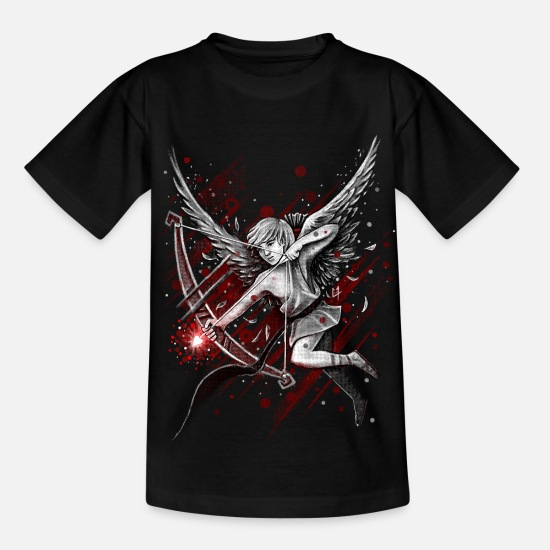 Love T-Shirts - Cupid - Kinder T-Shirt Schwarz