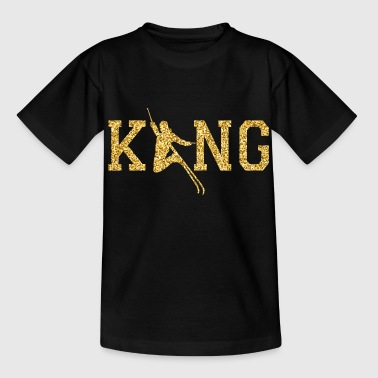 Skiing King - Kids' T-Shirt