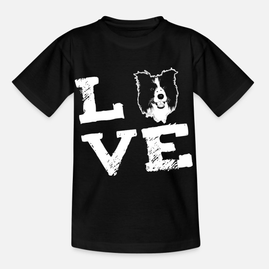Cool T-skjorter - LOVE - Border Collie - T-skjorte barn svart