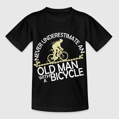 Racing bike in old age - Kids' T-Shirt