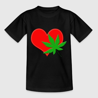 DOPEHEART CANABIS WEED - Kids' T-Shirt