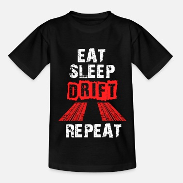 Auto Drifter Eat Sleep Drift Repeat - Kinderen T-shirt