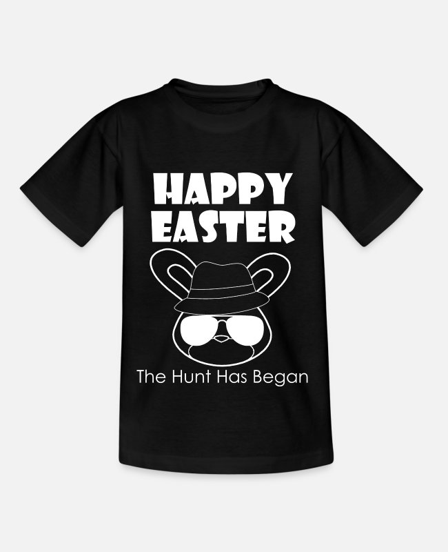 Easter T-Shirts - Happy Easter - Happy Easter - Kids' T-Shirt black