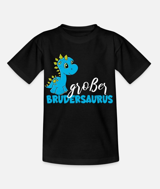 2019 T-Shirts - T Shirt Big Brother Dino Brothersaurus - Kids' T-Shirt black