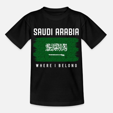 Saudi-arabische Nationalflagge Saudi-Arabien - Kinder T-Shirt