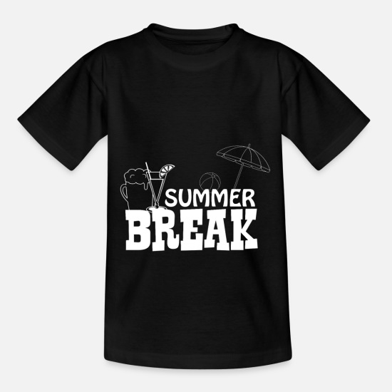 Turtle T-Shirts - Summer Break - Cocktail - Kids' T-Shirt black