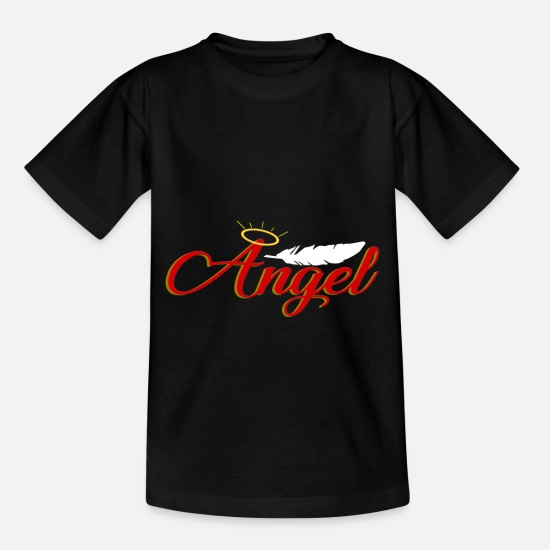Love T-Shirts - Angel angel - Kids' T-Shirt black