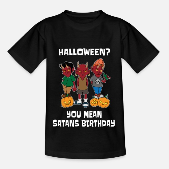 Atheist T-Shirts - Satan Halloween Birthday Satanist Satanism - Kids' T-Shirt black