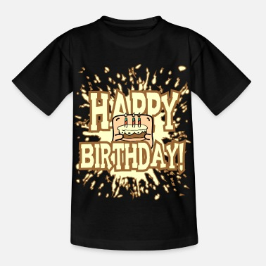 Little Creatures Funny little creature - brings birthday cake - Kids' T-Shirt