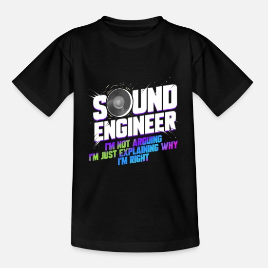 Studio T-Shirts - Sound Engineer Music Production DJ Audio Guy - Kids' T-Shirt black