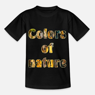Font Colors of nature - Kids' T-Shirt