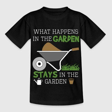 WHAT HAPPENS IN THE GARDEN STAYS IN THE GARDEN - Kinder T-Shirt