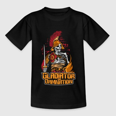 Skelett Krieger Gladiator - Kinder T-Shirt