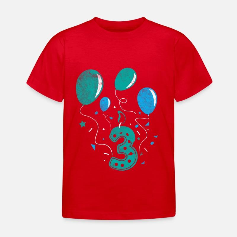 Dritte Geburtstag 3 Jahr alt Geschenk Baby Shirt von TeeBizz ...
