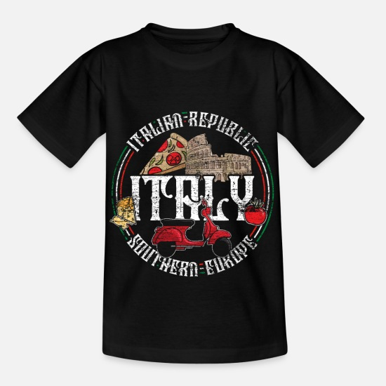 Pizza T-Shirts - Italy - Kids' T-Shirt black