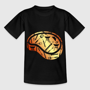 Meat carnivore gift barbecue steak - Kids' T-Shirt