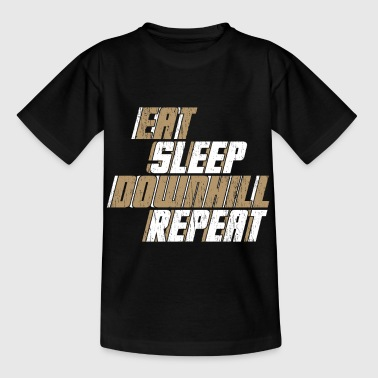 Eat Sleep Downhill Repeat Gift Bike - Kids' T-Shirt