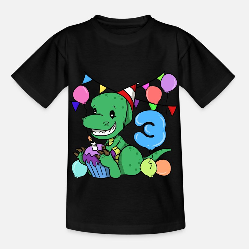 3rd Birthday Dinosaur Gift Party T Shirt Kids