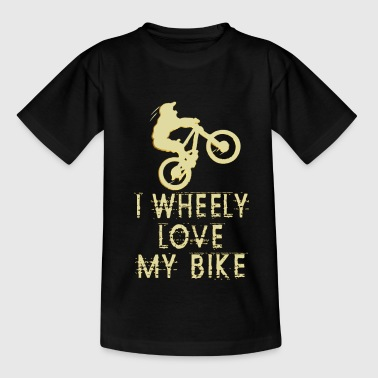 Wheely mit Dirt Bike Enduro - Kinder T-Shirt
