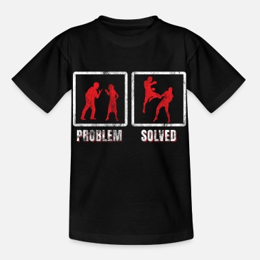 Problem Kickboxing problem solved - Kids' T-Shirt
