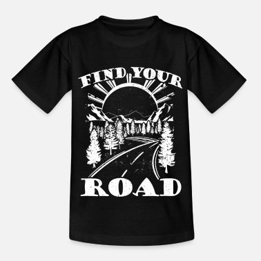 Camp-fire Mountains Mountains Road Camping & Camper Gift - Kids' T-Shirt