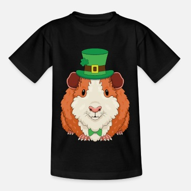 Grappige cavia St. Patrick's Day Gift - Kinderen T-shirt