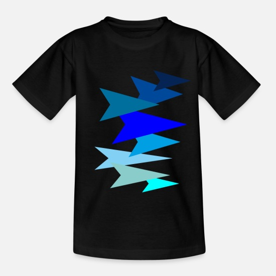 Stitch T-Shirts - arrow - Kids' T-Shirt black