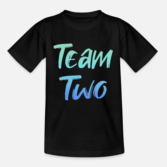 Birthday T-Shirts - Kids 2nd Birthday Shirt Team Two Boys 2 Years - Kids' T-Shirt black