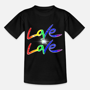 LGBTQ Love is Love is Love - Kids' T-Shirt