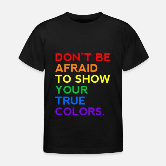 e45b5370 Jul T-skjorter - Ikke vær redd for å vise dine sanne farger LGBT -