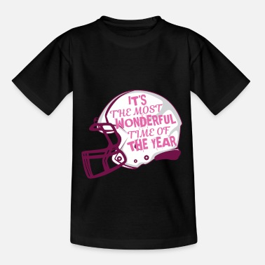 Winner Nice Time In The Year Football Helmet Protection Gift - Kids' T-Shirt