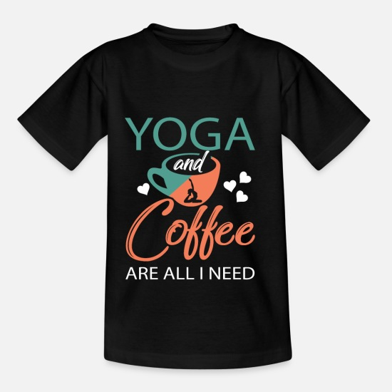 Jul T-shirts - Yoga gave Buddah meditation - T-shirt til børn sort