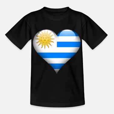 Root Heart Uruguay Flag - Kids' T-Shirt