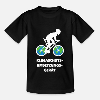 Attention Bicycle Environmental protection Climate protection - Kids' T-Shirt