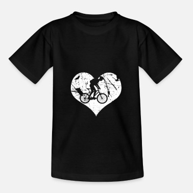 Bicicleta De Carrera Biker bike heart love ideas de regalos - Camiseta niño