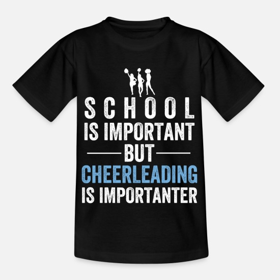 Cheerleading T-shirts - Cheerleading cheerleader vakter dansar karneval - T-shirt barn svart