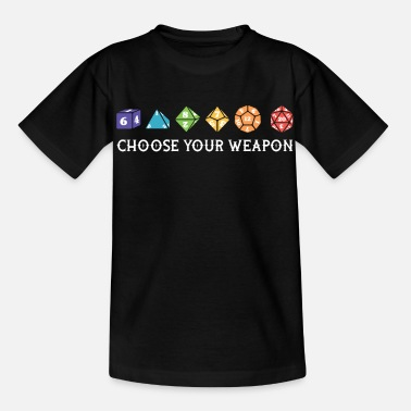 Game Night tees 0006 Vector Smart ObjectChoose your weapon du - Kids' T-Shirt
