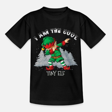 Dabbing Jeg er The Cool Tiny Dabbing Elf - T-shirt til børn
