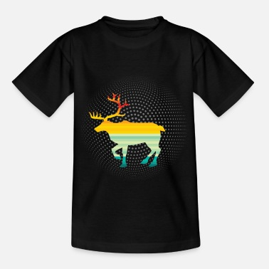 Horn Wildlife Animal Lover Retro Art Gift - T-shirt barn