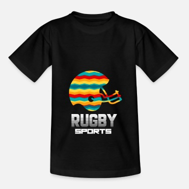 Unique Rugby Sports Equipment Retro Art Gift - Kids' T-Shirt