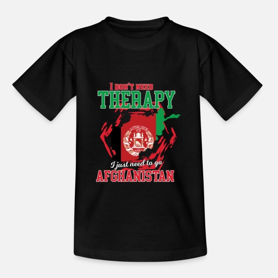 Travel T-Shirts - I don't need therapy - afghanistan - Kids' T-Shirt black
