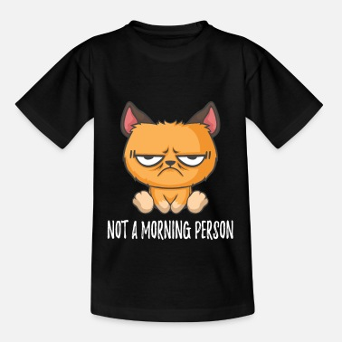 Grumpy In The Morning No Morning Man Grumpy Cat Morning Grouch - Kids' T-Shirt